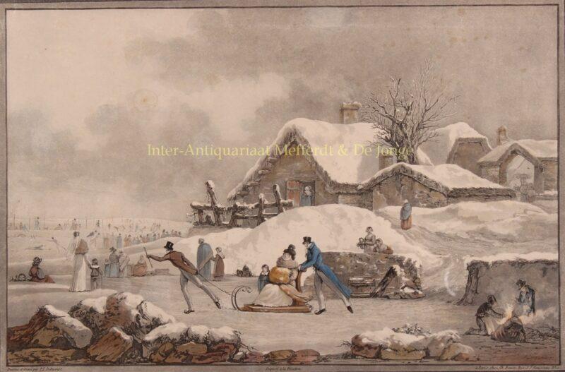 Sneeuwlandschap – Philibert-Louis Debucourt, ca. 1800