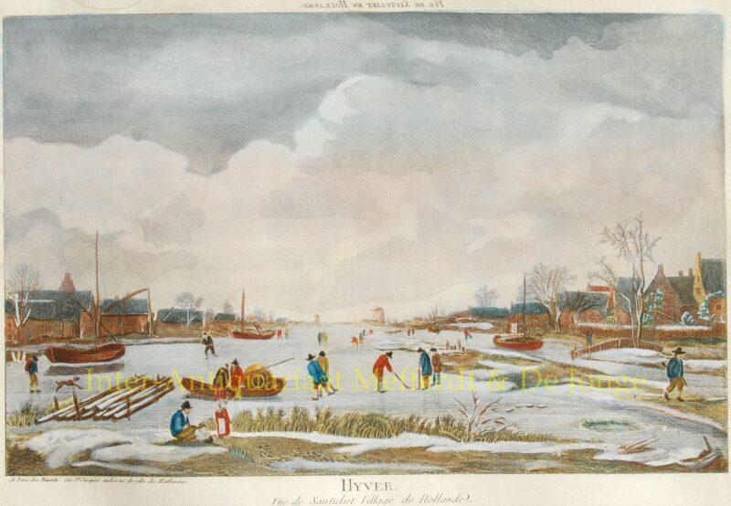 IJsgezicht met colfspelers, Zantvliet (Antwerpen), ca. 1780