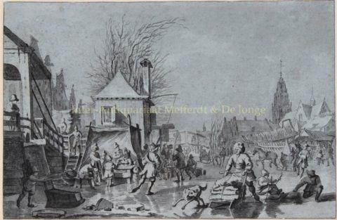 Meijer, Hendrik – Dutch ice skating/winter scene