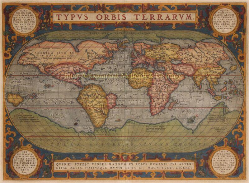 Wereld – Abraham Ortelius, 1587