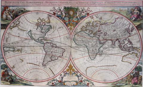 Wereldkaart – Johann Hoffmann, 1675
