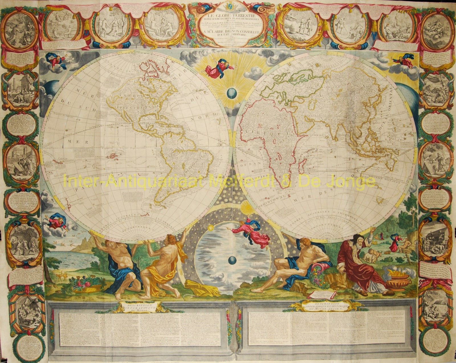 World map - Jean Baptiste Nolin, published by Crépy in 1784