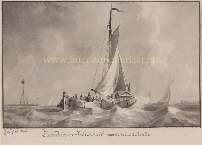 Zaandammer Volksschuit (trekschuit) – Joseph Sipkes, 1832