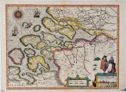 Kaart van Zeeland – Petrus Kaerius, 1617
