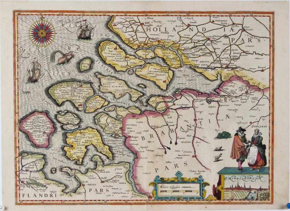 Kaart van Zeeland - Petrus Kaerius