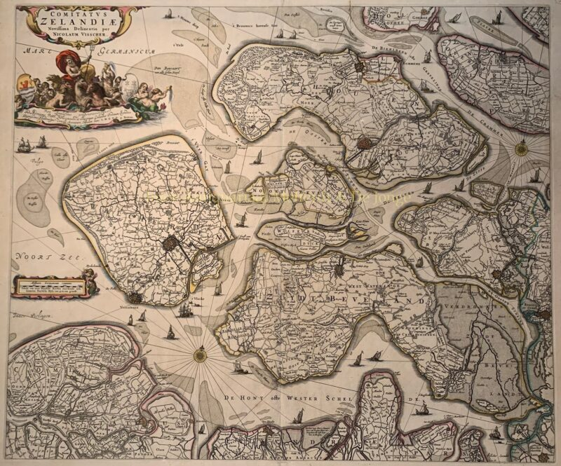 Zeeland – Nicolaes Visscher, na 1658