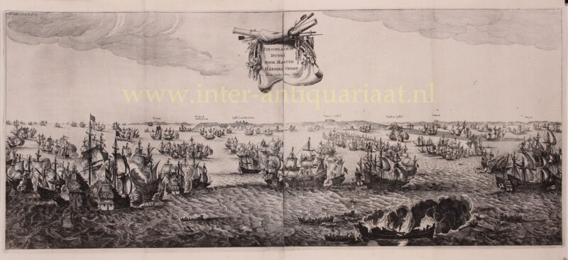 Zeeslag bij Duins – Salomon Savery naar Abraham de Verwer, 1651
