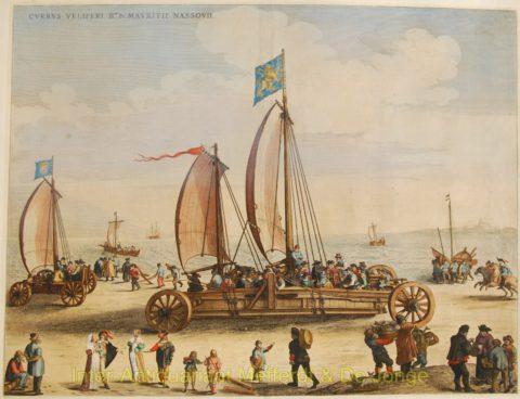 Blaeu – De zeilwagen van prins Maurits, landjacht