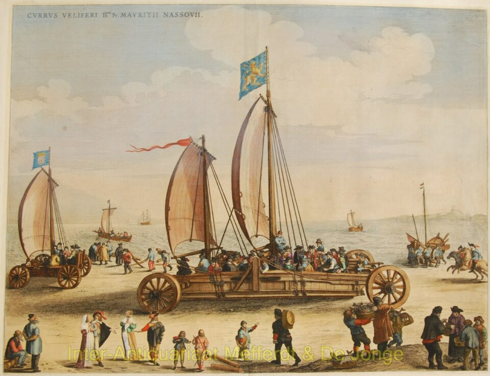 Blaeu - De zeilwagen van prins Maurits