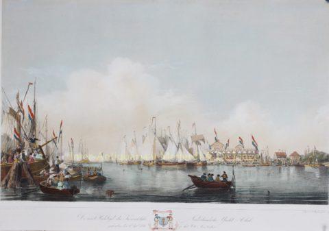 Zeilwedstrijd op het IJ – Frans Arnold Breuhaus de Groot, 1846