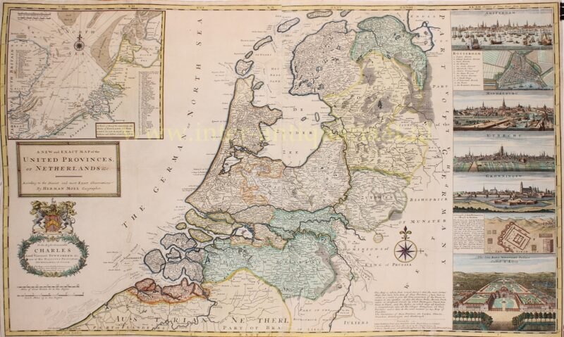 Zeven Verenigde Nederlanden – Hermann Moll, 1715