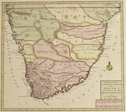 Southern Africa – Isaak Tirion, 1740