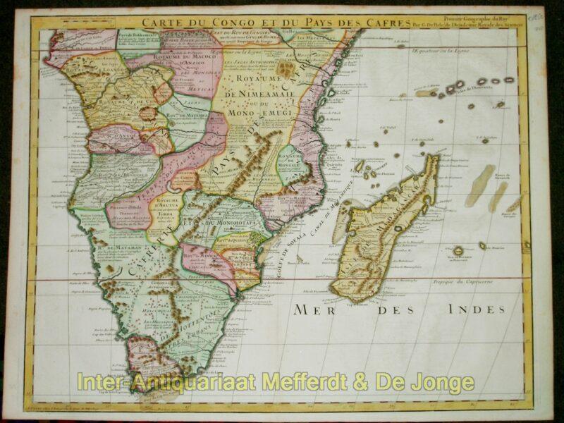 Zuidelijk Afrika – Carte du Congo et du Pays des Cafres