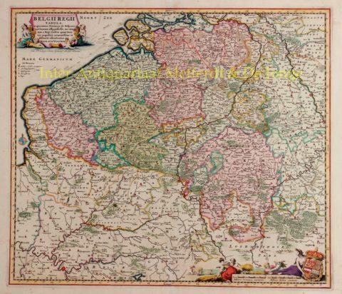 Zuidelijke Nederlanden – Nicolaes Visscher, 1684