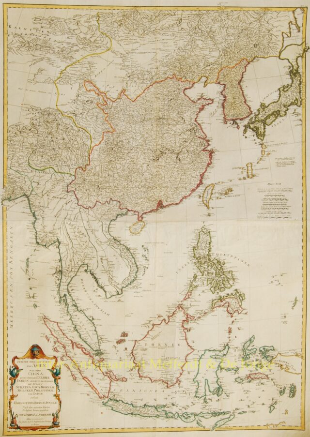 East Asia antique map - Schraembl