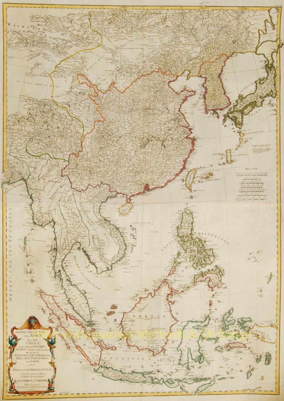 East Asia antique map - Schraembl