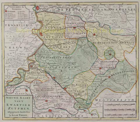 Gelderland, Kwartier Zutphen – Isaak Tirion, 1741