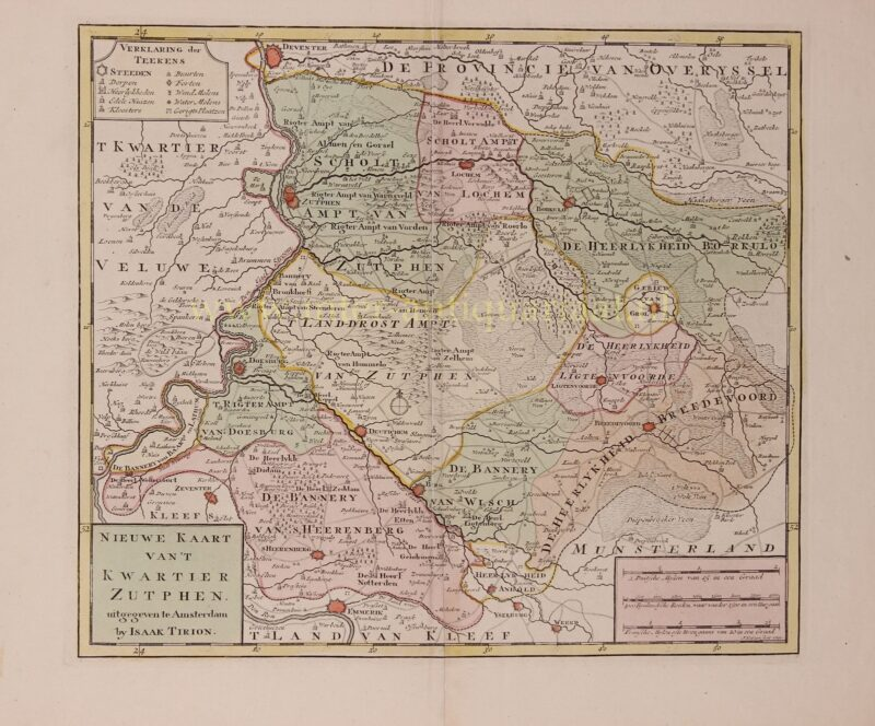 Gelderland, Kwartier van Zutphen – Isaak Tirion, 1741