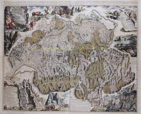 Zwitserland – Pieter Schenk, 1715