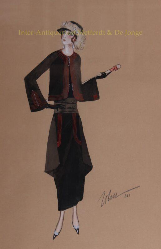 modetekening, fashion drawing 1920-1930 – John Guida