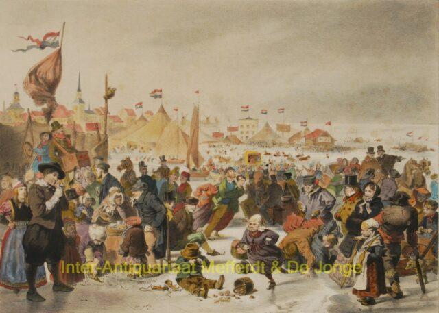 IJsgezicht Volendam - Dutch winter scene