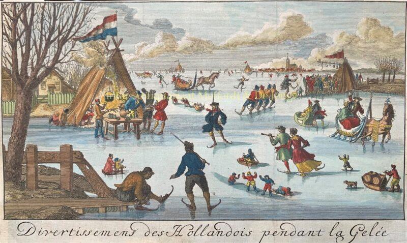 Vermaeckelyckheden van de Hollanders op het ijs – Jan Nicolas de Parival, 1697
