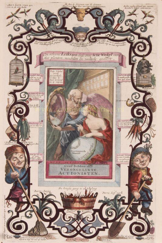 Satire op de aandelenhandel – anoniem, 1720