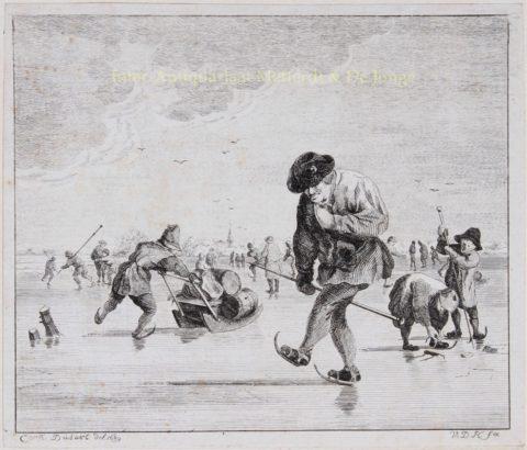 Schaatsers – Anthonij van der Haer naar Cornelis Dusart, 1745-1780
