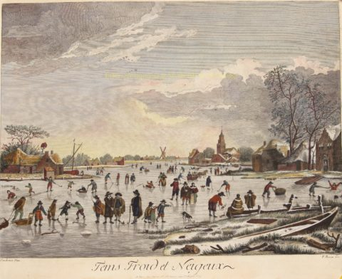 IJsgezicht met kolfspelers – naar Aert van der Neer, eind 18de-eeuw