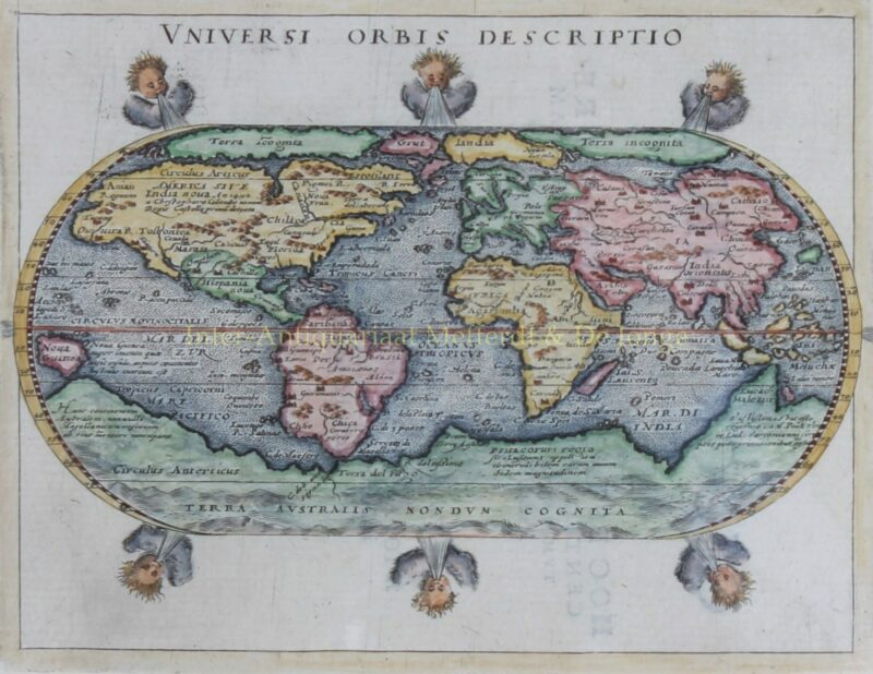 World map – Giovanni Magini, 1597